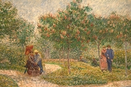 Couples in the Voyer d'Argenson Park at Asnieres painting reproduction, Vincent Van Gogh