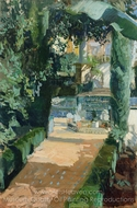 Court of the Dances, Alcazar, Sevilla painting reproduction, Joaquin Sorolla