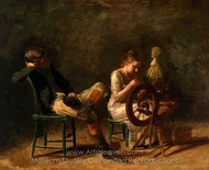Courtship painting reproduction, Thomas Eakins