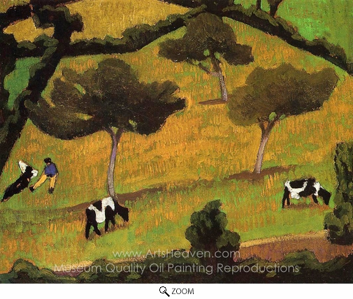 Roger De La Fresnaye, Cows in a Meadow oil painting reproduction