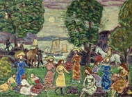 Crepuscule painting reproduction, Maurice Prendergast