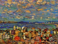 Crescent Beach painting reproduction, Maurice Prendergast