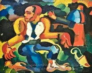 Crime Blue Abyss Physical Remorse painting reproduction, Amadeo De Souza-Cardoso