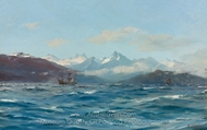 Crossing the Straits of Magellan painting reproduction, Thomas Jacques Somerscales