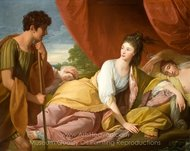 Cymon and Iphigenia painting reproduction, Benjamin West