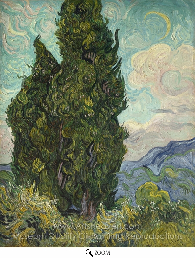 Vincent Van Gogh, Cypresses oil painting reproduction