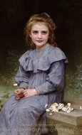 Daisies (Paquerettes) painting reproduction, William A. Bouguereau