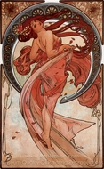 Dance painting reproduction, Alfonse Mucha
