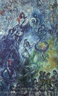 Dance painting reproduction, Marc Chagall (inspired by)