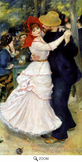 Pierre-Auguste Renoir, Dance at Bougival oil painting reproduction