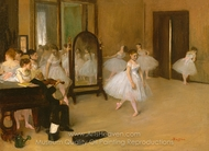 Dance Class painting reproduction, Edgar Degas