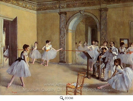 Edgar Degas, Dance Class at the Opera oil painting reproduction