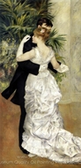 Dance in the City painting reproduction, Pierre-Auguste Renoir