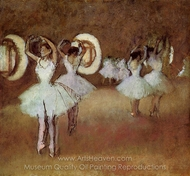 Dance Rehearsal in the Studio of the Opera painting reproduction, Edgar Degas