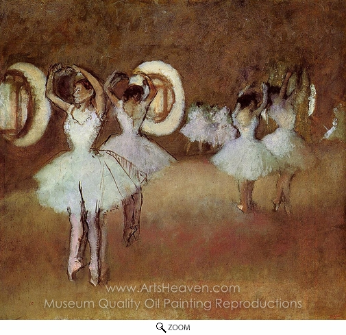 Edgar Degas, Dance Rehearsal in the Studio of the Opera oil painting reproduction