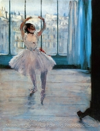 Dancer Posing painting reproduction, Edgar Degas