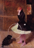 Dancer with a Hoop painting reproduction, Jean-Louis Forain