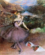 Dancer with Bouquets painting reproduction, Edgar Degas