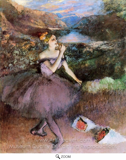 Edgar Degas, Dancer with Bouquets oil painting reproduction