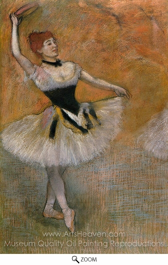 Edgar Degas, Dancer with Tambourine oil painting reproduction