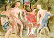 Dancers painting reproduction, Alice Bailly
