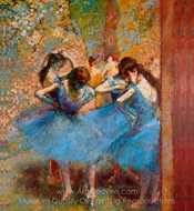 Dancers in Blue painting reproduction, Edgar Degas
