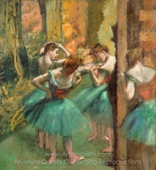 Dancers, Pink and Green painting reproduction, Edgar Degas