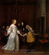 Dancing Couple painting reproduction, Gerard Ter Borch