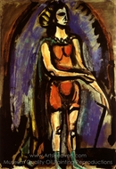 Danseuse painting reproduction, Georges Rouault