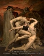 Dante and Virgil in Hell painting reproduction, William A. Bouguereau