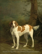 Dash, a setter in a Wooded Landscape painting reproduction, Jacques Laurent Agasse