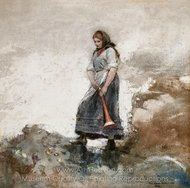 Daughter of the Coast Guard painting reproduction, Winslow Homer
