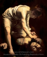 David and Goliath painting reproduction, Caravaggio