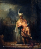 David and Jonathan painting reproduction, Rembrandt Van Rijn
