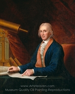David Rittenhouse painting reproduction, Charles Willson Peale