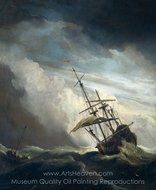 De Windstoot (The Gust) painting reproduction, Willem Van De Velde, The Elder