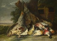 Dead Birds in a Landscape painting reproduction, Jan Fyt