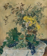 Dead Nature with Flowers and Raisins painting reproduction, Jean-Francois Raffaelli