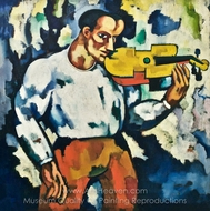 Deaf Music painting reproduction, Amadeo De Souza-Cardoso