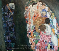 Death and Life painting reproduction, Gustav Klimt