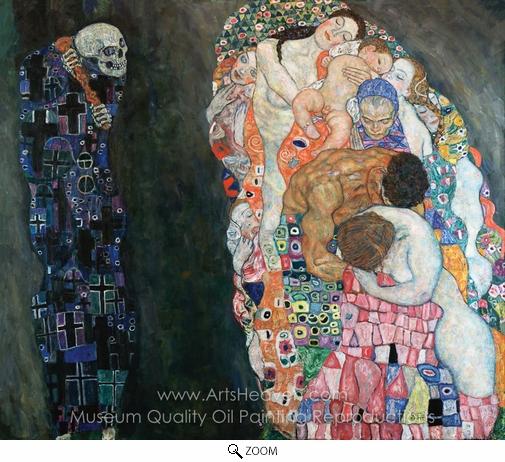 Gustav Klimt, Death and Life oil painting reproduction