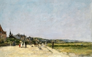 Deauville, the Terrace painting reproduction, Eugene-Louis Boudin