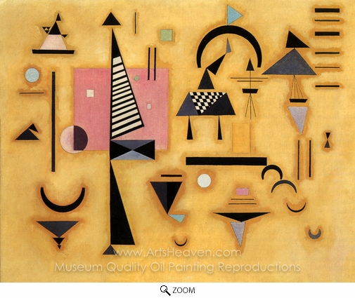 Wassily Kandinsky, Decisive Pink oil painting reproduction