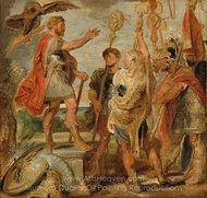 Decius Mus Addressing the Legions painting reproduction, Peter Paul Rubens