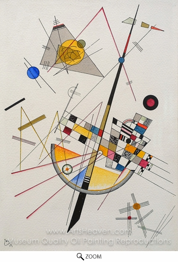Wassily Kandinsky, Delicate Tension oil painting reproduction