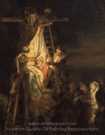 Descent from the Cross painting reproduction, Rembrandt Van Rijn