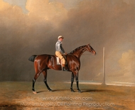Diamond, with Dennis Fitzpatrick Up painting reproduction, Benjamin Marshall