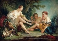 Diana after the Hunt painting reproduction, Francois Boucher