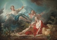 Diana and Endymion painting reproduction, Jean-Honore Fragonard