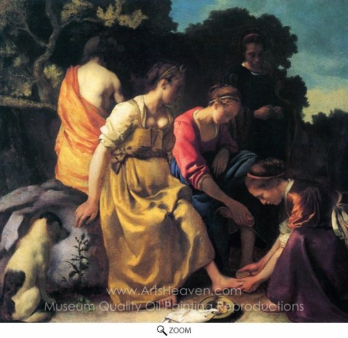 Jan Vermeer, Diana and Her Companions oil painting reproduction